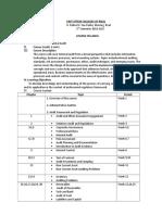 Syllabus Internal Audit