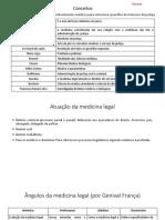Resumo Medicina Legal