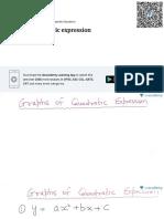 Graph of Quadratic Expression (in Hindi)