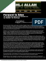 AHL-i-ALLAH Forward to Eden