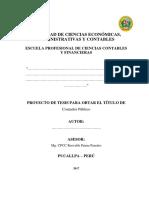 Manual para Elaboracíon de Tesis UNU 2017