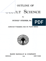 Outlook on Occult science