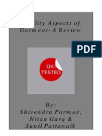 Quality Aspects of Garment- A Review