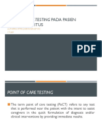 Point of Care Testing Pada Pasien Diabetes Melitus