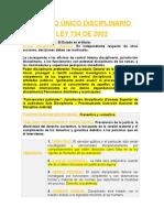 Codigo Unico Disciplinario Ley 734 de 2002