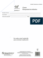 Plantillas de Calificación Test (WISC-IV) (Manual Moderno)