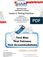 issues in testing practices  test bias test fairness test accomodations  vnb
