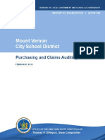State Comptrollers Office Audit of  Mount Vernon City School District