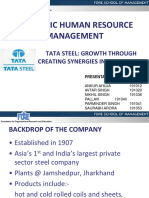 strategic shrm tata steel