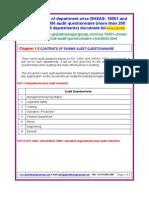 EHSMS Audit Questionnaire Checklist
