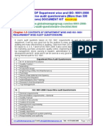 ISO 9001 2008 Audit Questionnaire Checklist