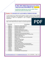 ISO 9001 2008 Filled Formats