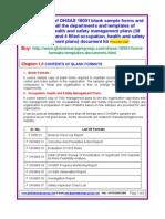 OHSAS 18001 Sample Templates Formats