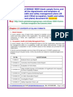 OHSAS 18001 Sample Templates Formats