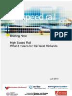 HSR Briefing Note West Midlands