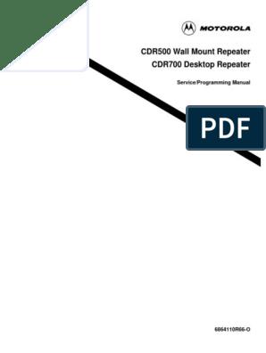 Motorola Cdr500 Cdr700 Wall Mount Repeater   Trademark   License
