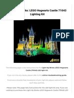 Light My Bricks LEGO Hogwarts Castle 71043 Lighting Kit Light My Bricks-compressed