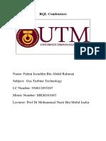 Fahmi Izzuddin Bin Abdul Rahman MKM 161043 Assigment 2 GTT