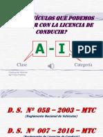 Que Vehículos Se Puede Conducir Con La Licencia de Conducir A-I (Perú)