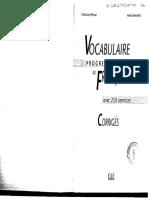 Vocabulaire Progressif Du Francais Intermediaire (Corriges)