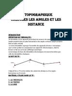 Tp Topographie Calcules Les Angles Et Des Distance