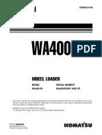 Komatsu WA400-5H Wheel Loader Service Repair Manual SN WA400H50051 and up.pdf