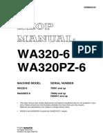 Komatsu WA320PZ-6 Wheel Loader Service Repair Manual SN:70092 and up.pdf