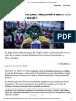 RDC - 5 questions pour comprendre un scrutin sous très haute tension