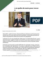 Voeux - Macron en quête de mots pour reconquérir l'opinion