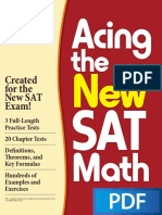 Acing the New SAT Math PDF Book