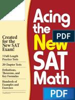 Acing the New SAT Math PDF Book