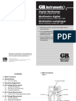 Multimeter GB GDT-190A Manual