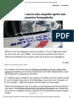 Lille - la justice ouvre une enquête après une plainte pour agression homophobe