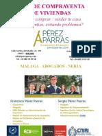 Compraventa de viviendas y casas. Guía del despacho Pérez Parras Economistas y Abogados.