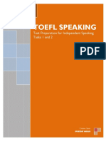 TOEFL SPEAKING - Independent Speaking