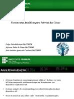 Ferramentas Analiticas de IoT - Ferramentas Analíticas para Internet das Coisas, KNIME, WEKA, RapidMiner, SAS,