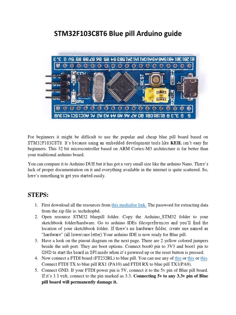 Stm 32 Blue Pill Arduino Guide | Arduino | Booting