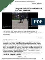 """Décapitation d'un pantin représentant Macron - trois journalistes """"mis en cause"""""""