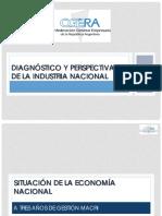 Diagnóstico y perspectivas de la industria nacional CGERA