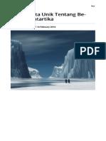 10 Fakta Unik Tentang Benua Antartika Mongabay.co.Id