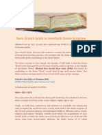 Guru Grant h Sahib as Interfaith Divine Scripture