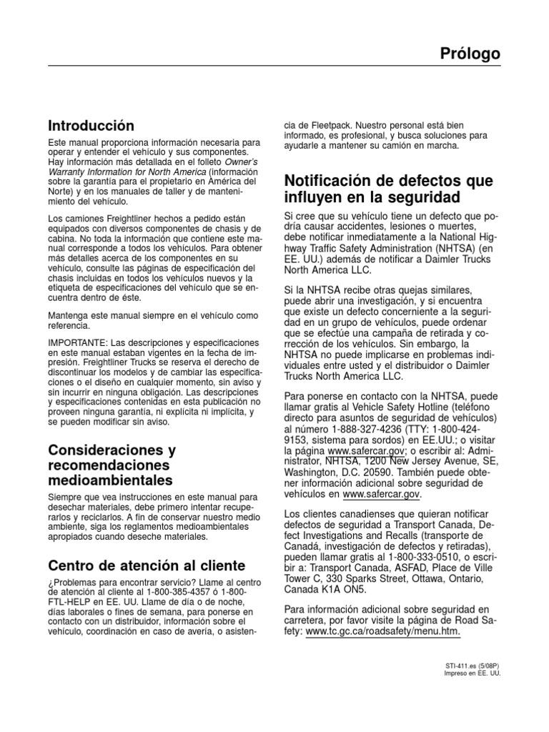 Manual Del Conductor Century Class ST y Coronado