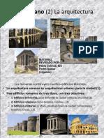 El Arte Romano 2 La Arquitectura