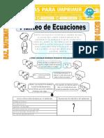 Ejercicios de Planteo de Ecuaciones Para Sexto de Primaria