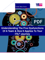 Understanding the Five Dysfunctions of a Team and How It Applies to Your ITIL Journey