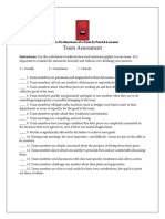 Five Dysfunctions of a Team Assessment Questions - Lencioni - Dysfunctions