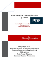 Five Dysfunctions of a Team Dysfunctions LDL