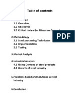 Survey of Steel Manufacturing Companies in Punjab Province Pakistan