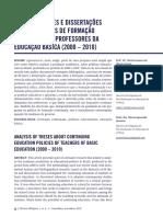 Análise de teses e dissertações sobre educação