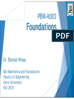 Foundations- Choice of Type of Foundations